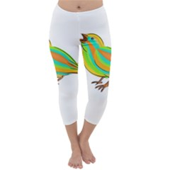 Bird Capri Winter Leggings