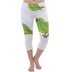 Bird Capri Yoga Leggings