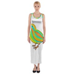 Bird Fitted Maxi Dress