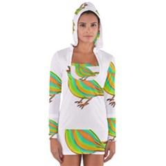 Bird Women s Long Sleeve Hooded T-shirt