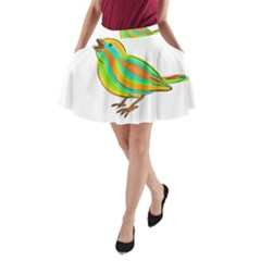 Bird A-Line Pocket Skirt