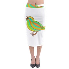 Bird Midi Pencil Skirt