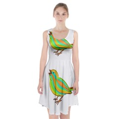 Bird Racerback Midi Dress