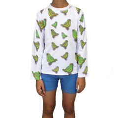 Birds Kids  Long Sleeve Swimwear
