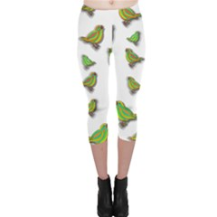 Birds Capri Leggings