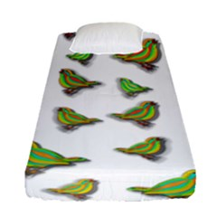 Birds Fitted Sheet (Single Size)