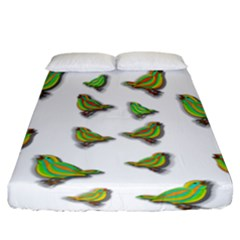Birds Fitted Sheet (California King Size)