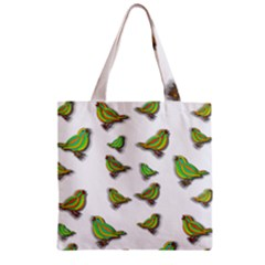 Birds Zipper Grocery Tote Bag