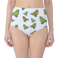 Birds High-Waist Bikini Bottoms
