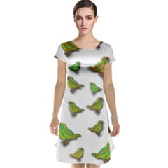 Birds Cap Sleeve Nightdress