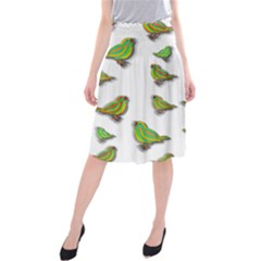 Birds Midi Beach Skirt