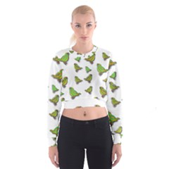 Birds Women s Cropped Sweatshirt