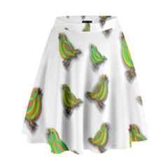 Birds High Waist Skirt