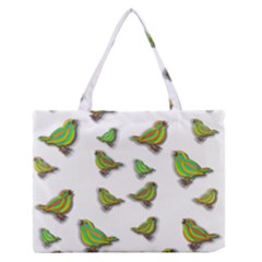Birds Medium Zipper Tote Bag