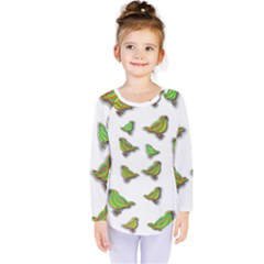 Birds Kids  Long Sleeve Tee