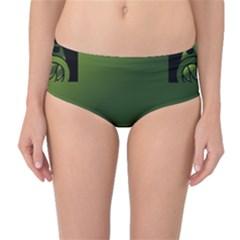 Celtic Corners Mid-Waist Bikini Bottoms