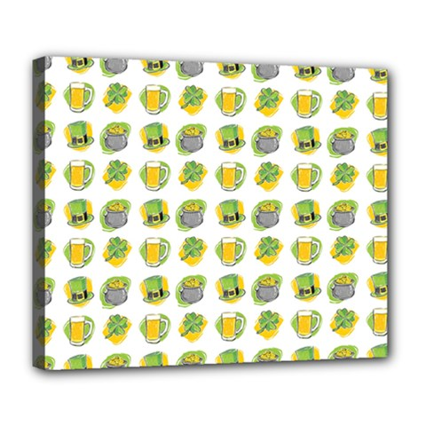 St Patrick S Day Background Symbols Deluxe Canvas 24  x 20