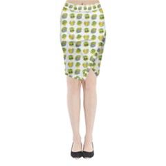 St Patrick s Day Background Symbols Midi Wrap Pencil Skirt