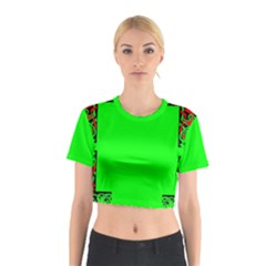 Decorative Corners Cotton Crop Top