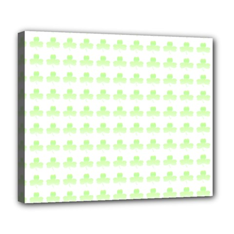Shamrock Irish St Patrick S Day Deluxe Canvas 24  X 20