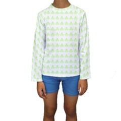 Shamrock Irish St Patrick S Day Kids  Long Sleeve Swimwear
