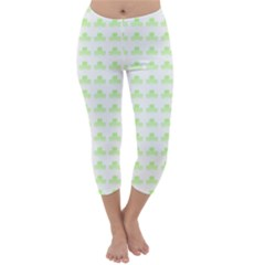 Shamrock Irish St Patrick S Day Capri Winter Leggings