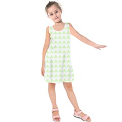Shamrock Irish St Patrick S Day Kids  Sleeveless Dress