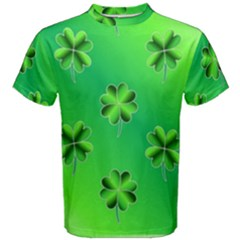 Shamrock Green Pattern Design Men s Cotton Tee