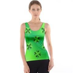 Shamrock Green Pattern Design Tank Top