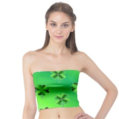 Shamrock Green Pattern Design Tube Top