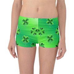 Shamrock Green Pattern Design Reversible Bikini Bottoms