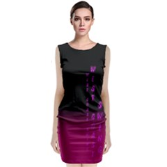 Wcs   Pink Purple Sleeveless Velvet Midi Dress