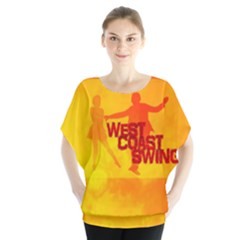 West Coast Swing Batwing Chiffon Blouse