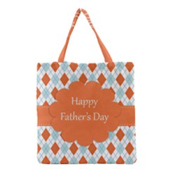 happy Father Day  Grocery Tote Bag