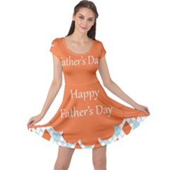 happy Father Day  Cap Sleeve Dresses