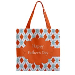 happy Father Day  Zipper Grocery Tote Bag
