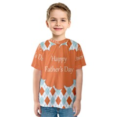 happy Father Day  Kids  Sport Mesh Tee