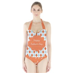 happy Father Day  Halter Swimsuit