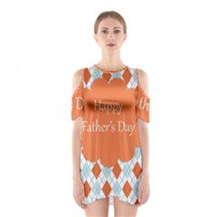 Happy Father Day  Shoulder Cutout One Piece