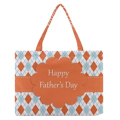 happy Father Day  Medium Zipper Tote Bag