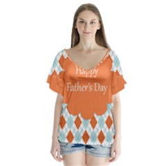 Happy Father Day  Flutter Sleeve Top