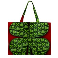 Shamrock Irish Ireland Clover Day Zipper Mini Tote Bag