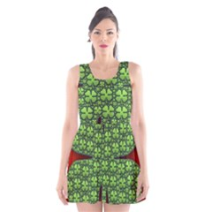Shamrock Irish Ireland Clover Day Scoop Neck Skater Dress