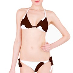 Poodle Brown Silo Bikini Set