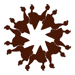 Poodle Brown Silo Hook Handle Umbrellas (Medium)