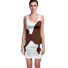 Poodle Brown Silo Sleeveless Bodycon Dress