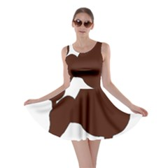 Poodle Brown Silo Skater Dress