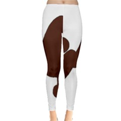 Poodle Brown Silo Leggings