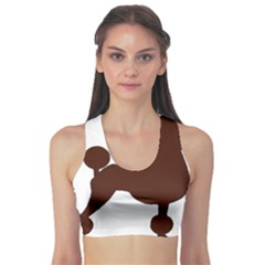 Poodle Brown Silo Sports Bra