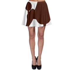 Poodle Brown Silo Skater Skirt